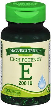 Nature's Truth High Potency E 200 IU Quick Release - 100 Softgels, Pack of 6 by Nature's Truth