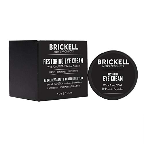 41BOcwgtRDL - Brickell Men's Restoring Eye Cream for Men, Natural and Organic Anti Aging Eye Balm To Reduce Puffiness, Wrinkles, Dark Circles, Crows Feet and Under Eye Bags, .5 Ounce, Unscented