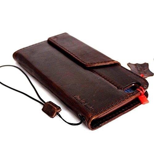 En cuir véritable Vintage fait à la main Art étui pour Apple iPhone 6Plus Étui portefeuille de luxe pour carte d'identité