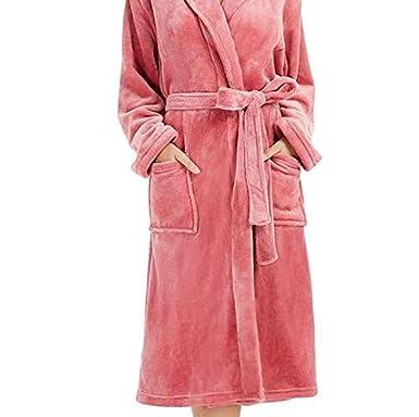 Rcool Camisones Batas y Kimonos Camisones Mujer Camisones Verano Camisones Tallas Grandes Mujer, Abrigo de Mangas largas Alargado de Felpa de Invierno para ...