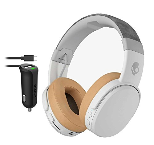 Click to buy Skullcandy Crusher Gray/Tan Wireless Bluetooth Headphones With iOttie Micro USB Car Charger - From only $199.99