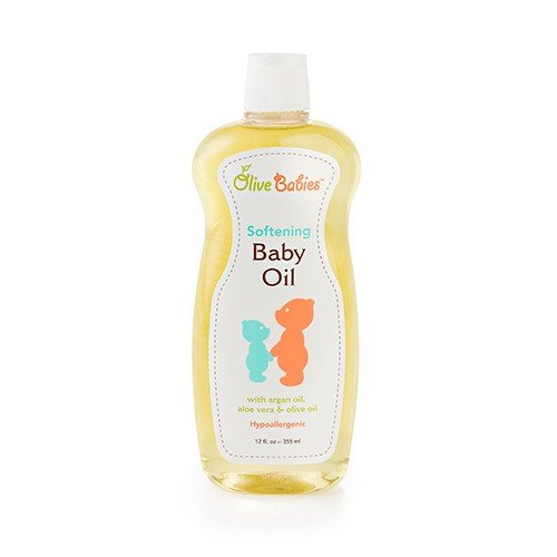 Baby Oil Multi Purpose with Argan Oil, Aloe Vera & Olive Oil 12 oz - Softening Hypoallergenic Solution for All Skin Types - Good on Men, Women & Kids