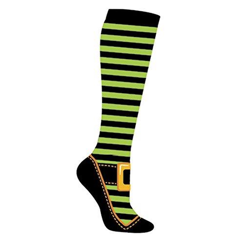 Yo Sox Women's Knee High Wicked Witch Halloween Socks (Wicked Witch Socks)