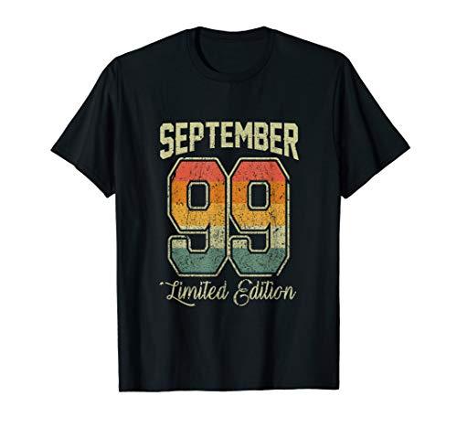 Vintage 20th Birthday Shirt September 1999 Sports Jersey T-Shirt (1999 Jersey)