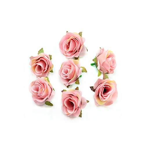 - 10 pcs Silk Artificial Rose Flower Head Scrapbooking Flowers Ball for Wedding Decoration,Light Pink