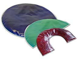 Sensory Weighted Gel Lap Pad - 3 Pounds Semi Circle Red Color