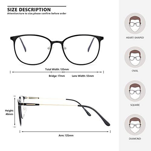 Livho Blue Light Blocking Glasses,Cut UV/Ray Transparent Lens,Computer Reading/Gaming Glasses,Anti Eyestrain/Anti Scratch,Sleep Better for Women/Men