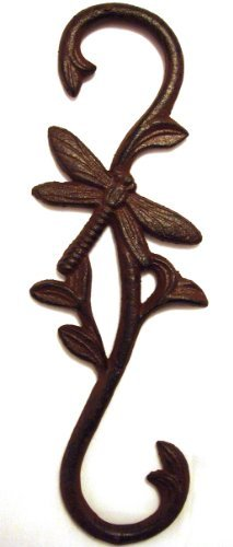 Cast Iron Dragonfly Plant Hook ~ Birdfeeder ()