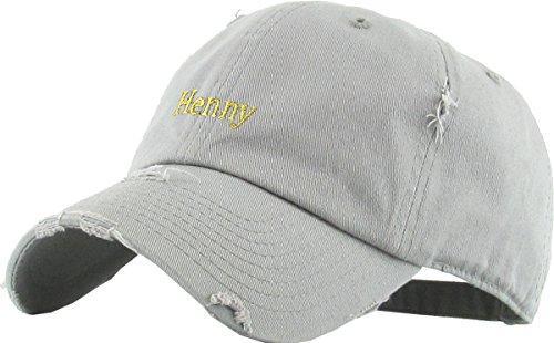 KBSV-023 LGY Henny Dad Hat Baseball Cap Polo Style Adjustable