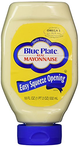 Blue Plate Mayonnaise 3-18oz Easy Squeeze Bottles