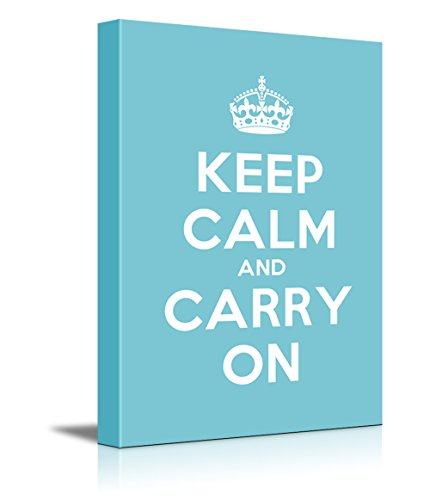 Keep Calm and Carry On Stretched Teal
