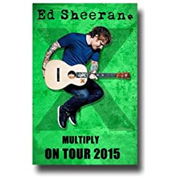 Ed Sheeran Poster - 11 x 17 Concert Promo for the Multiply X Tour 2015