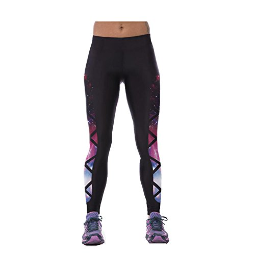 Darkey Wang Womens Sexy Comfy Yoga Pants Printed Movement Yoga Leggings(35#)