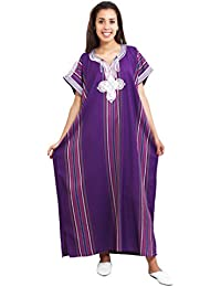 Women Light Weight Linen Handmade One Size SMALL to LARGE Cover-up Lounge wear Ethnic