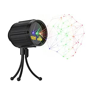 Laser Light, Star Projector Red Green and Blue 3 Modes with RF Remote Control, Garden Lamp Weatherproof Xams Star Laser Show Lighting for Halloween, Party, Holiday Decoration