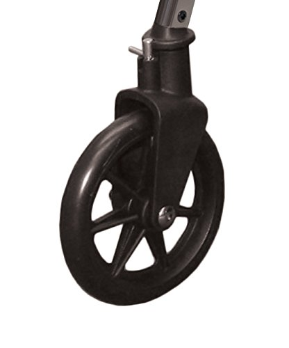 Able Life 2 Piece Locking Swivel Wheel Kit, Black, 1.6 Pound