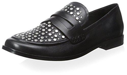 Pour La Victoire Womens Lavis Studded Loafer Black