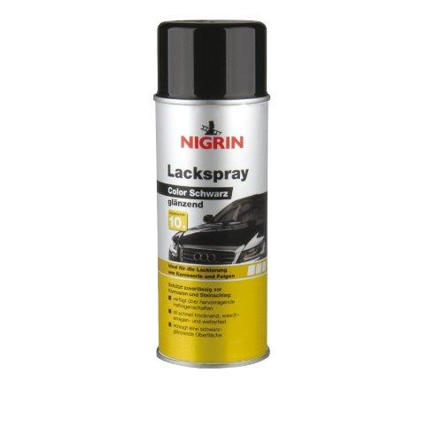 NIGRIN 74113 Lackspray schwarz glänzend 400 ml