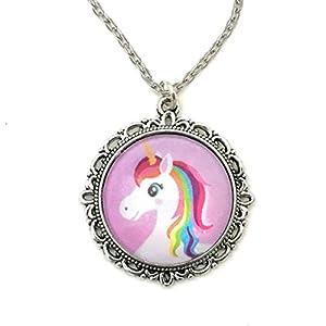 Pink Rainbow Unicorn Necklace – Handmade