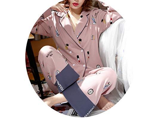 Pigiama Sottile Autunnale La E Donna Da Maniche Pu Sezione A Pajamas Lunghe Donna Cotone Abbigliamento Casa In 6Bdq7P