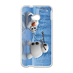 Happy Cute Frozen Olaf Design Best Seller High Quality Phone Case For HTC M7