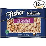 Fisher Almonds. Allergen Information May Contain Peanuts And Or Other Tree Nuts 2 OZ (Pack of 24)