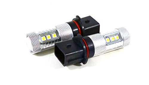 Genssi 2x 80W White P13W High Power LED 12V DRL Daytime Running Low Beam Accent for Camaro - 12 Ss Light