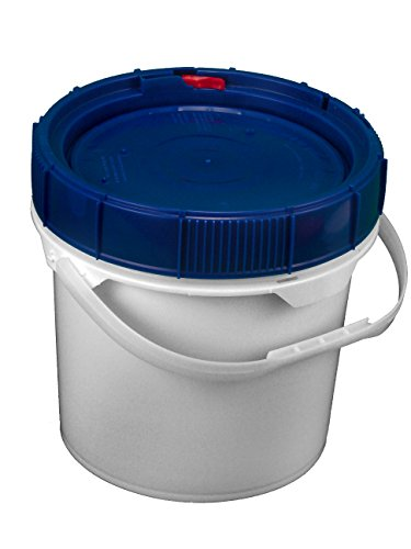 Screw Top Bucket - 3.5 Gallon with Blue Lid; Heavy Duty 90 mil