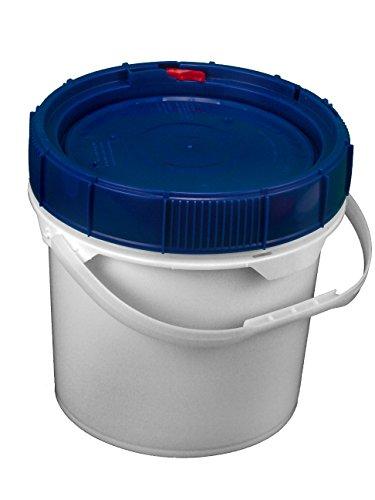 Screw Top Bucket - 3.5 Gallon with Blue Lid; Heavy Duty 90 mil