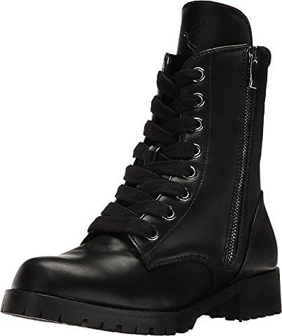 Capezio Women's Flat Combat Boot Black Shoe - Footwear Combat Boots