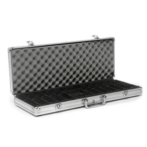 GHP Professional Aluminum Carrying Storage Holder For 500 Poker Chip Clay by Globe House Products
