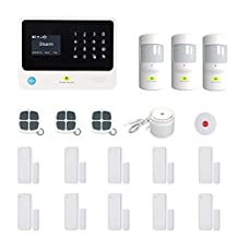 Golden Security Touch screen keypad LCD display WIFI & GSM 2-in-1 with Auto Dial,Motion Detectors and more diy Home Alarm System G90B-W02