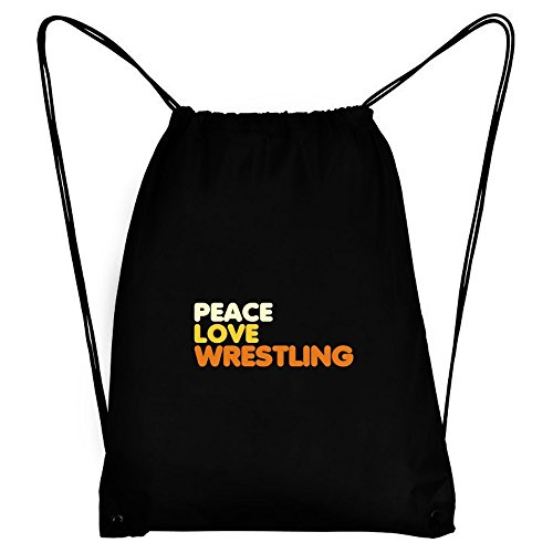 Teeburon PEACE , LOVE AND Wrestling Sport Bag by Teeburon