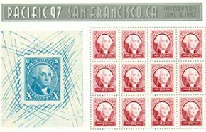 Pacific 97 San Francisco, George Washington block of stamps 12 60-cent stamps