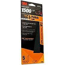 """3M 03002 Imperial Wetordry 3-2/3"""" x 9"""" 1500 Grit Automotive Sandpaper"""