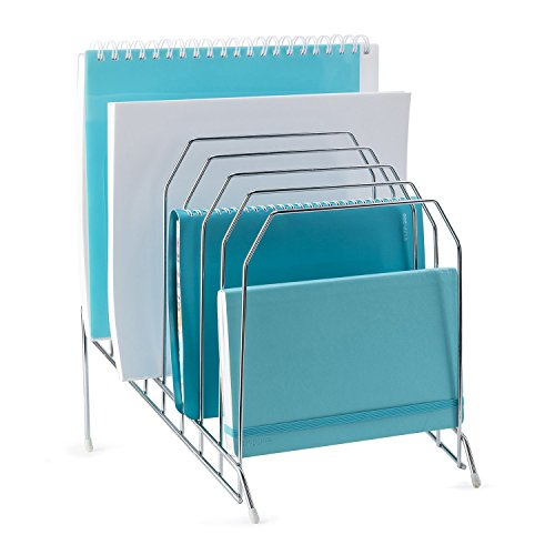Mindspace Multi Step File Organizer | The Wire Collection, Silver -