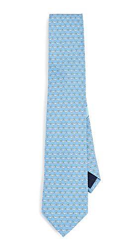 (Salvatore Ferragamo Men's Rhinoceros Print Classic Tie, Blue, One Size )