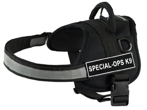 (Dean & Tyler 28-Inch to 38-Inch Pet Harness, Medium, Special-Ops K9, Black)