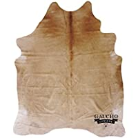 Solid Beige Cowhide Rug - Unique Honey Color Gaucho Cowhide