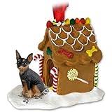 Miniature Pinscher Gingerbread House Christmas Ornament New Gift