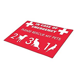 Queenser Firefighters Dogs Monogrammed Door Mat