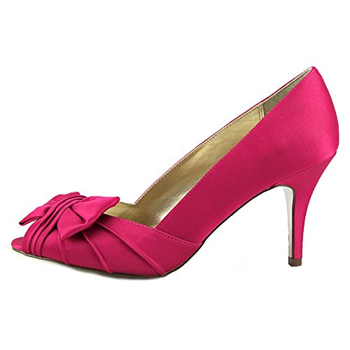 Women's Pump Toe Peep Berry Nina Satin Luster Forbes Satin zfwTxd7