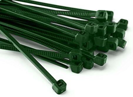 100pieza presilla 200mmx2,5mm para red Protección Apertura Valla en verde