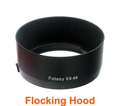 fotasy-es68fl-flocking-bayonet-lens-hood-for-canon-ef-50mm-f-18-stm-replaces-canon-es-68-black