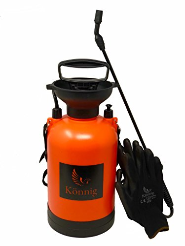 1.3 Gallon/5L Pump Action Pressure Sprayer with BONUS a Pair of Garden Gloves
