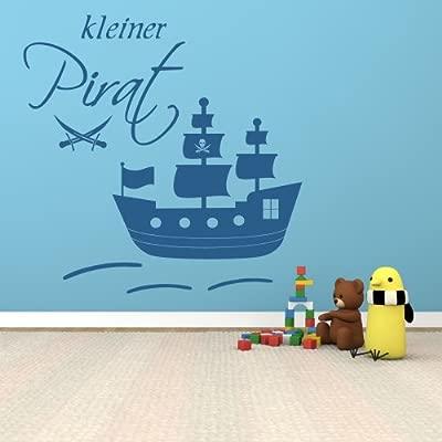 100 x 100 cm de pared XXL 68163 -, pequeño~, gran barco pirata con ...
