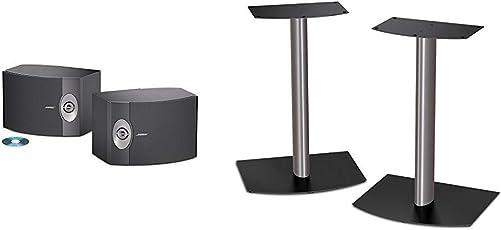 BOSE 301-V Stereo Loudspeakers Pair – Black FS-1 bookshelf speaker floorstands pair Black and Silver
