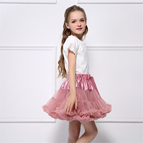 Colors Dresses Bubble Gauze Performance Girls Skirt brown cameo Candy Stage Costume Princess Dance Remeehi 5UqxtIw