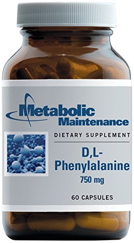 Metabolic Maintenance D, L-Phenylalanine (with Vitamin B6) - 750 Milligrams Amino Acid for Mood Support (60 Capsules)