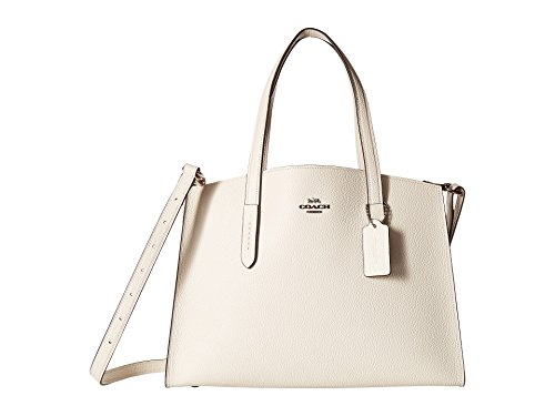 COACH Women's Polished Pebble Leather Charlie Carryall Sv/Chalk One Size